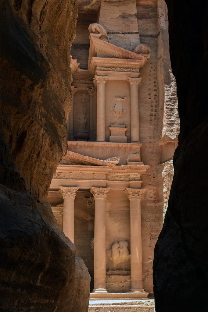 Desfiladero del Siq en Petra