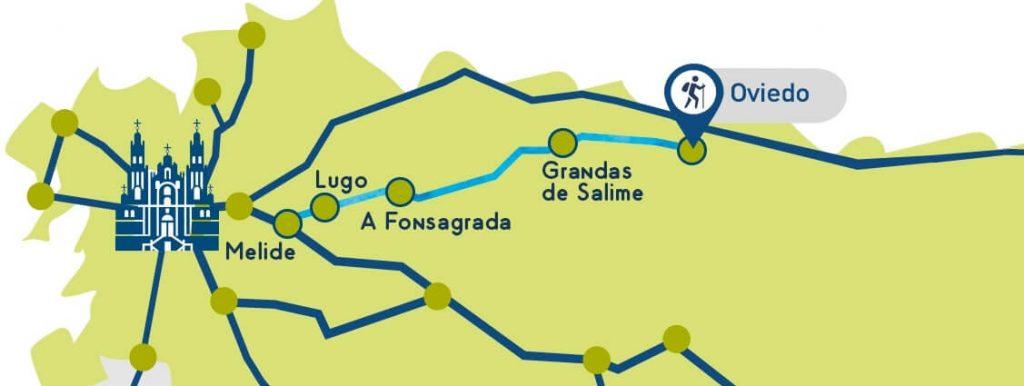 Etapas del Camino de Santiago Primitivo