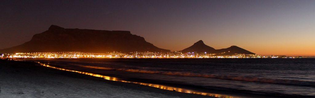 Montaña de la Mesa en Sudáfrica