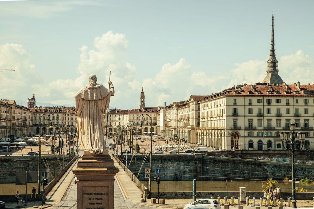 Piazza Vittorio en Turín
