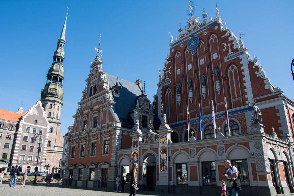 Plaza de la Catedral en Riga