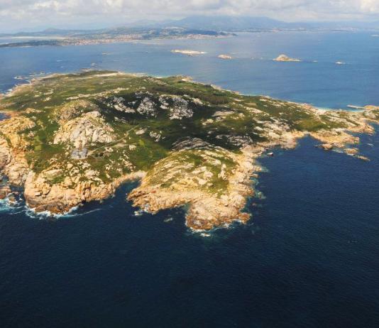 Fotografía aérea Isla de Sálvora (Galicia)