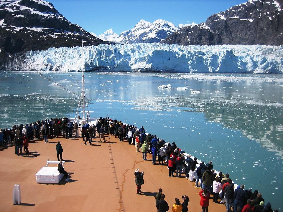Vista desde un crucero por la Antártida