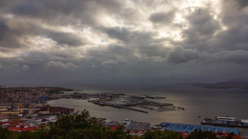 Vista de la costa de Vigo