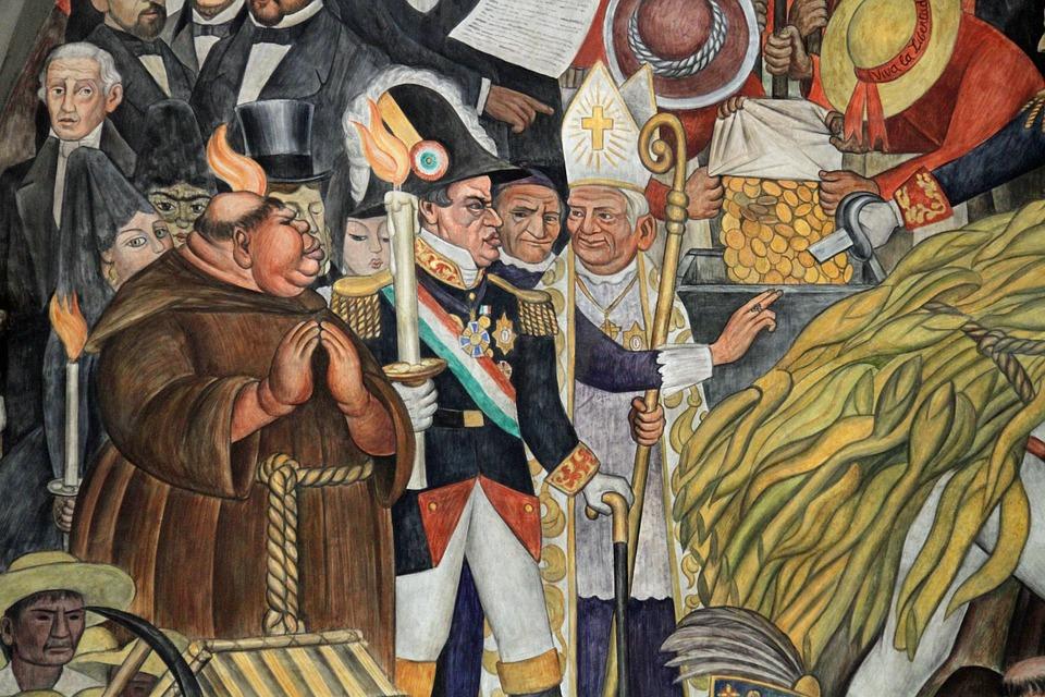 Uno de los murales de Diego Rivera