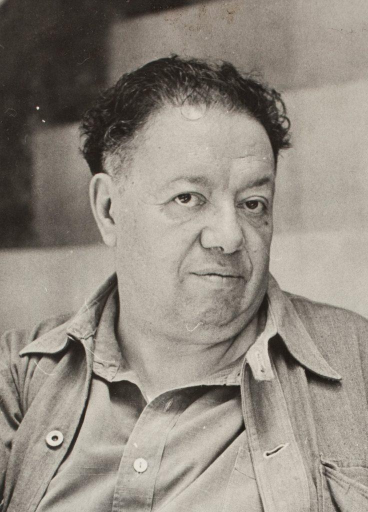 Fotografía en blanco y negro de Diego Rivera