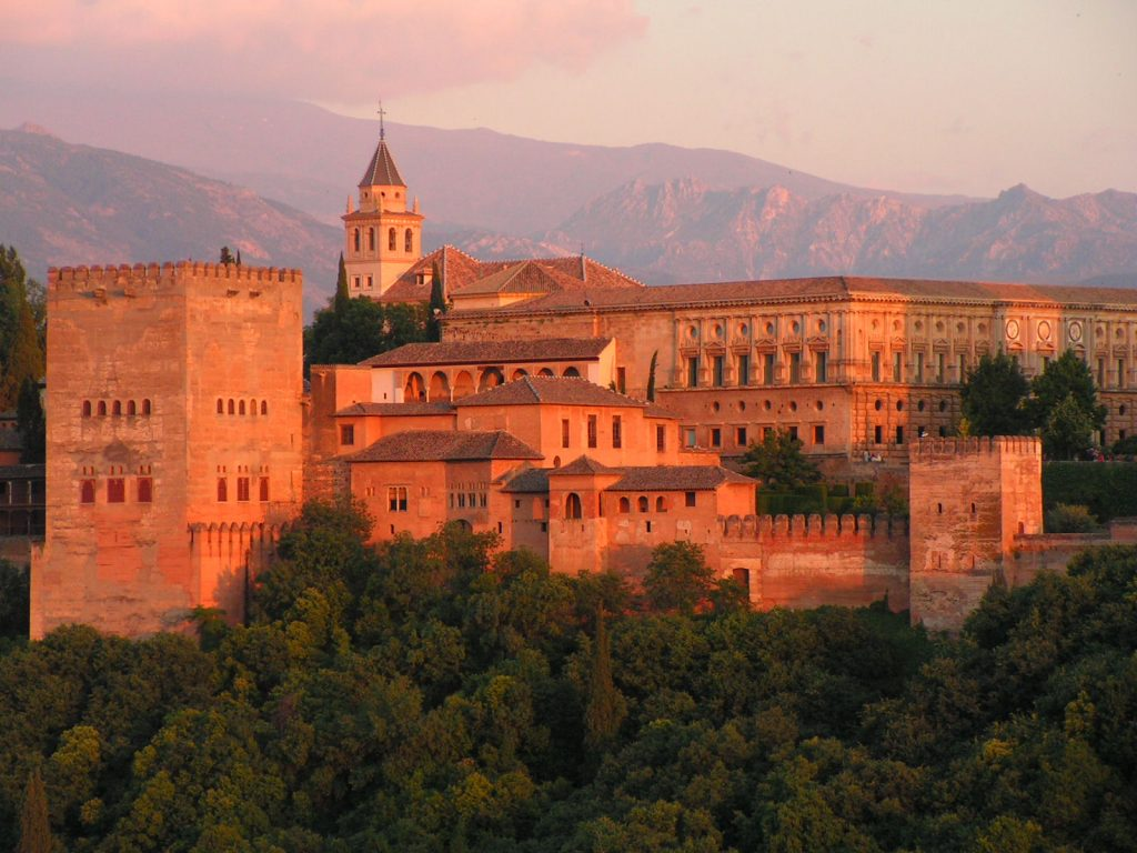 puesta de sol la alhambra