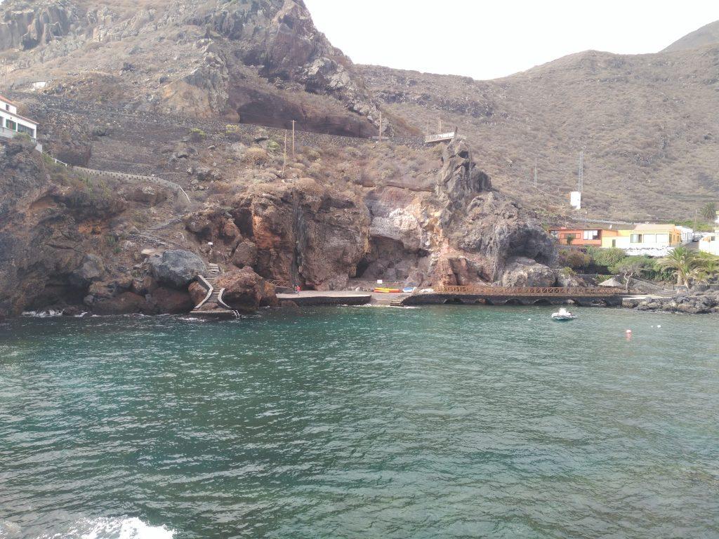 Detalle del puerto de Tamaduste en El Hierro