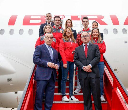 Avión Iberia Equipo Olímpico