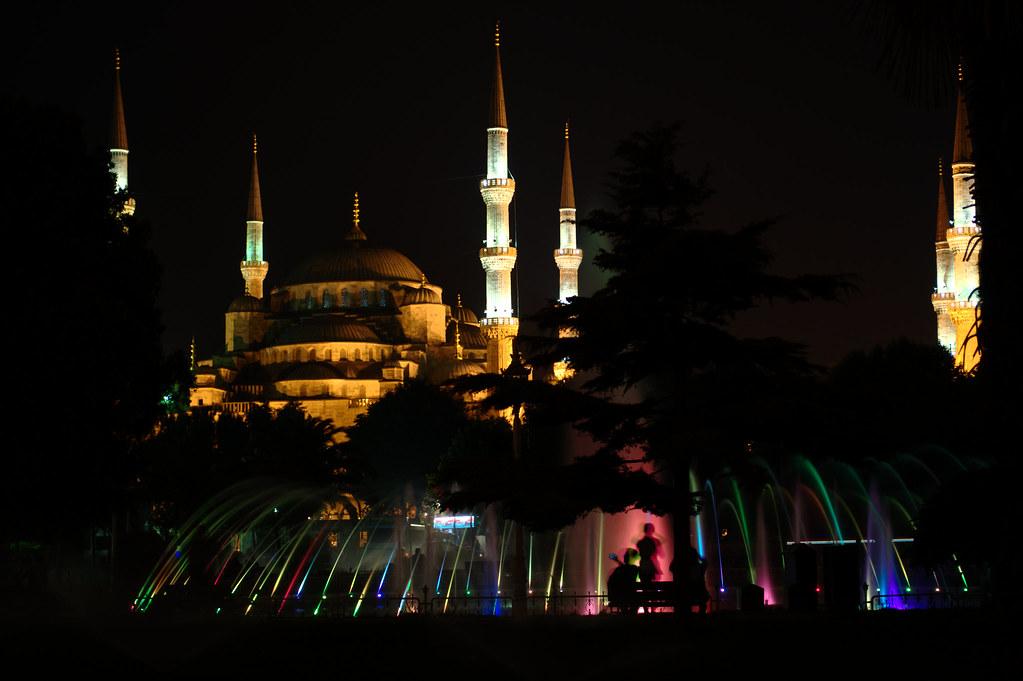 plaza de sultanahmet noche