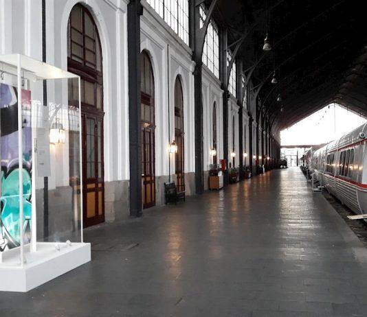 Grafiti en el Museo del Ferrocarril