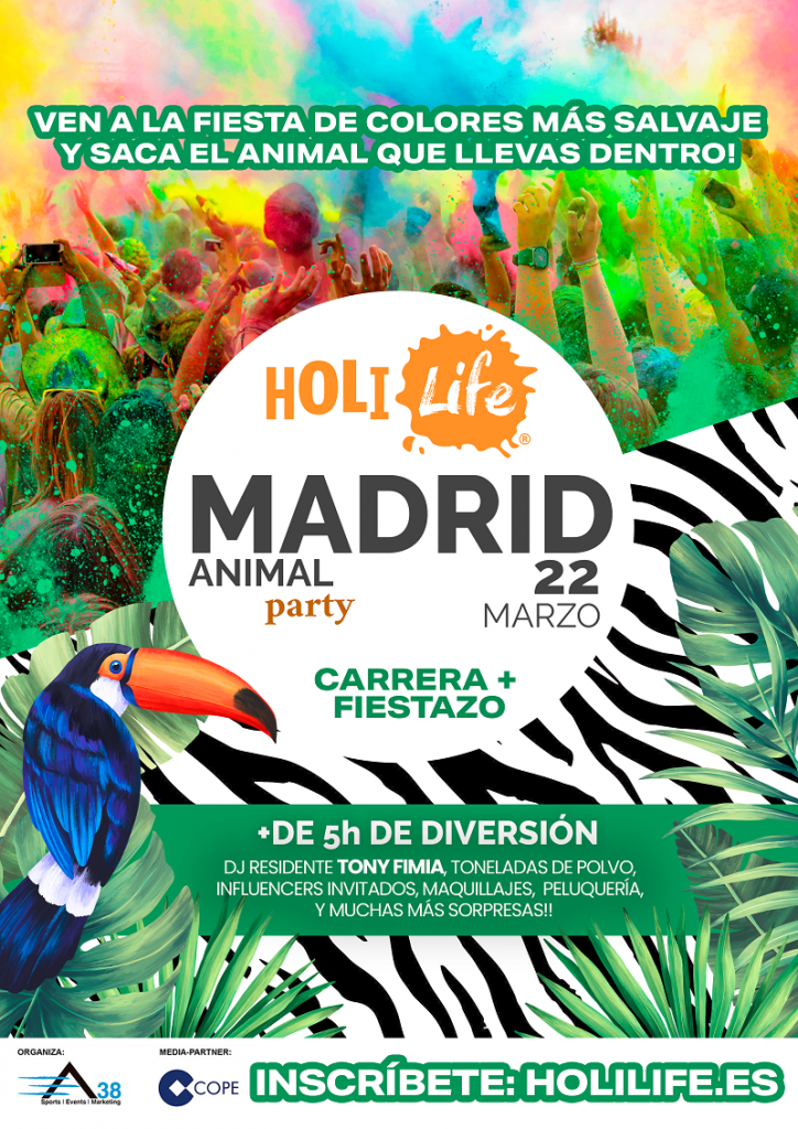 Cartel Holi en Madrid 2020