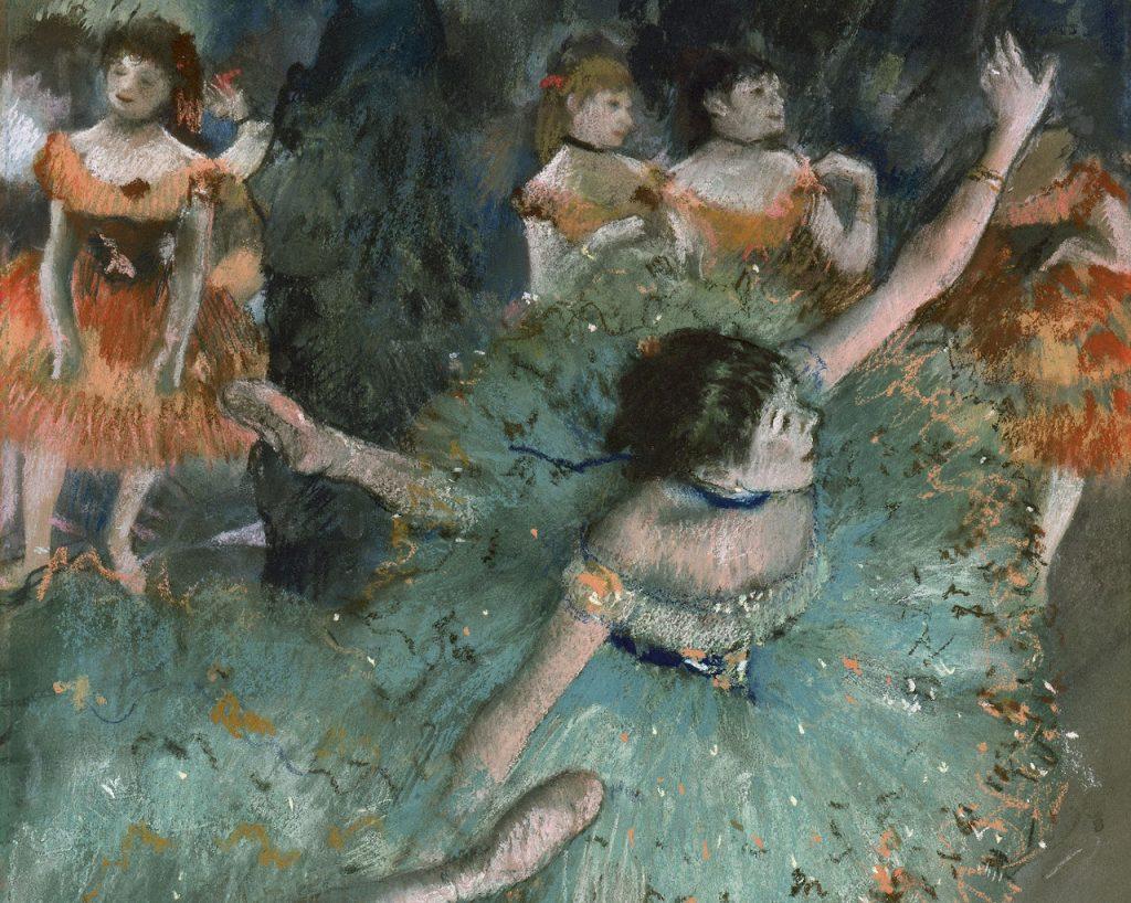Bailarina verde de Degas