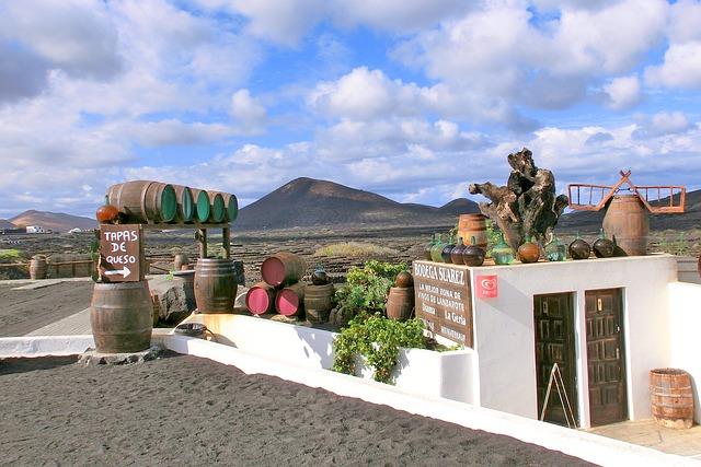 Bodega de vino en La Geria, Lanzarote