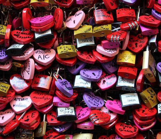 Candados del amor en Verona