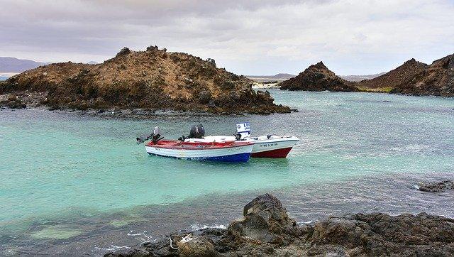 El puertito del Islote de Lobos en Fuerteventura