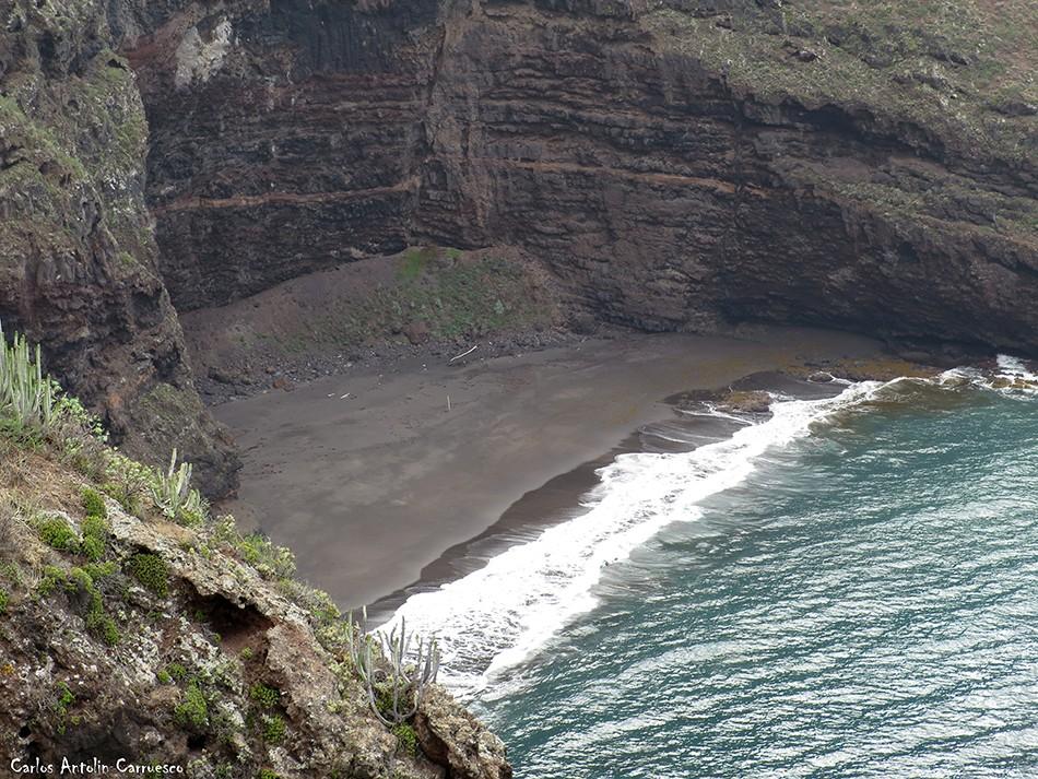 Vista desde Anaga de la playa Ocadila