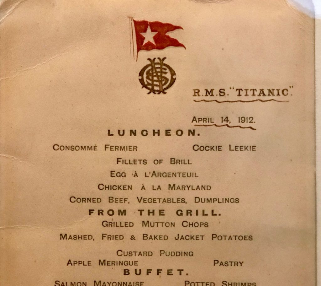 10 platos que se sirvieron en el menú del Titanic - Descubrir