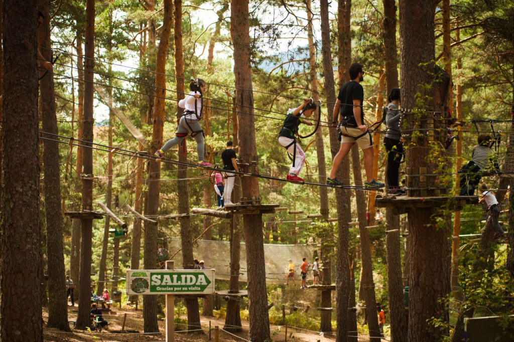 5 parques de aventura en Madrid - Descubrir